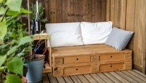 Meble ogrodowe zpalet drewnianych -Twój ogród wstylu DIY