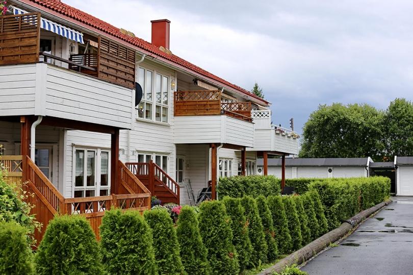 Drewniane balkony ifasada