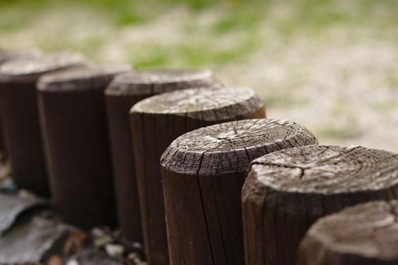 Drewniana palisada