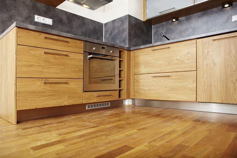 Zabezpieczone olejem do drewna meble kuchenne