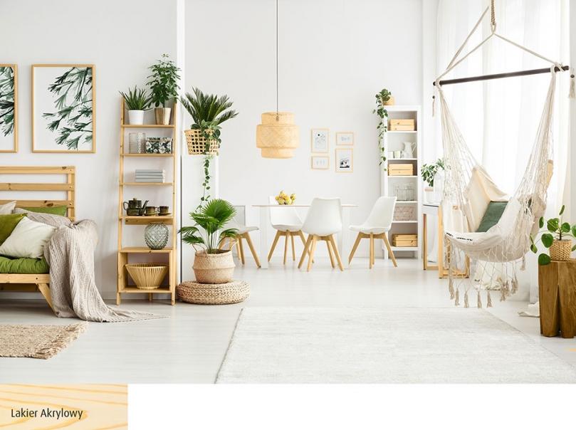 Drewniane akcenty ocieplające wnętrze