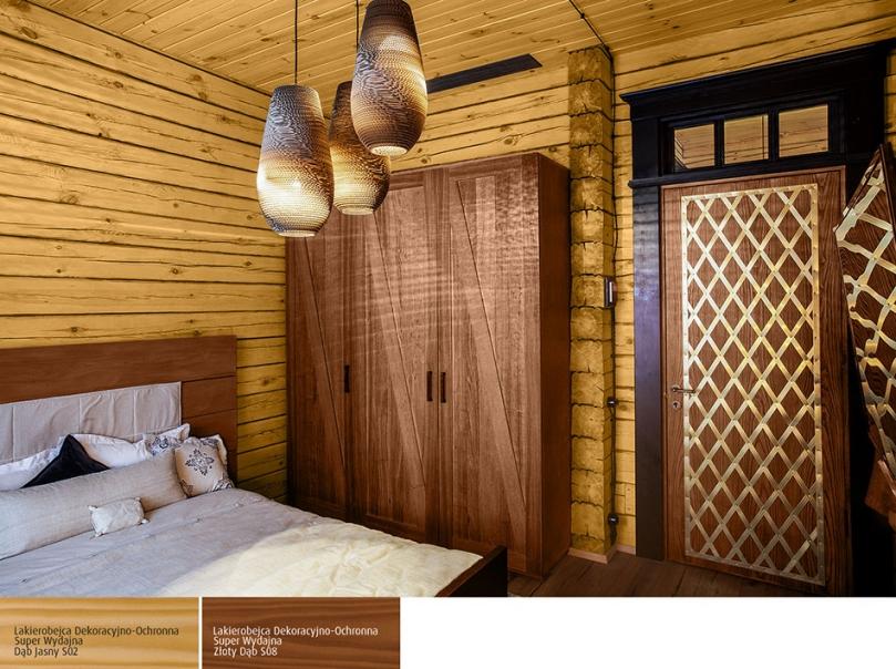 Zastosowanie drewna wcieplym kolorze wsypialni