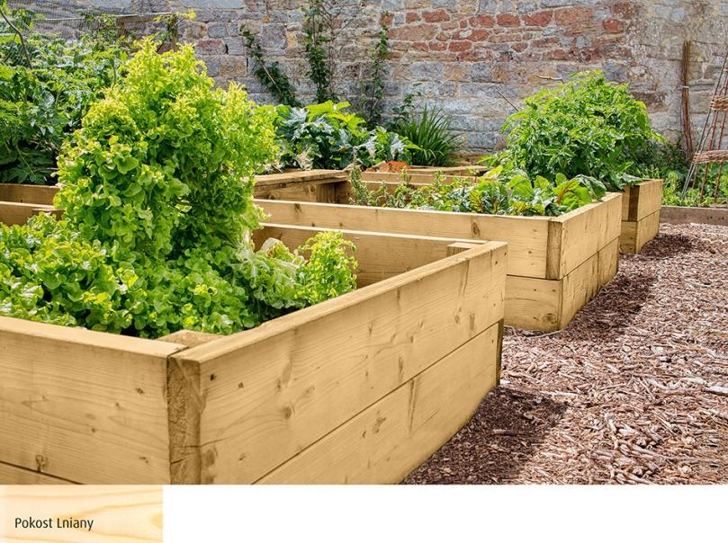 Drewniane skrzynie na rośliny