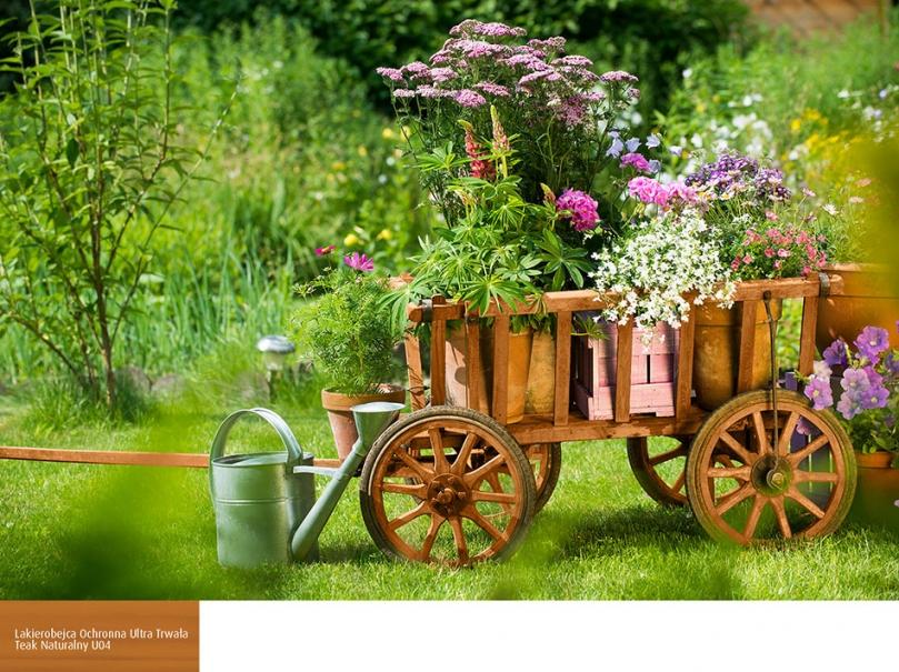 Wóz zkwiatami wdoniczkach
