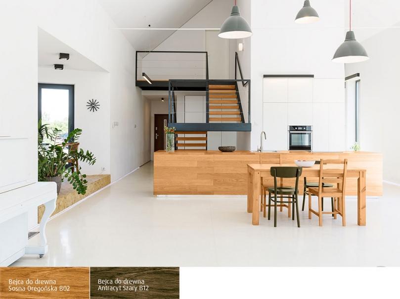 Drewno wciepłym odcieniu wnowoczesnym pomieszczeniu
