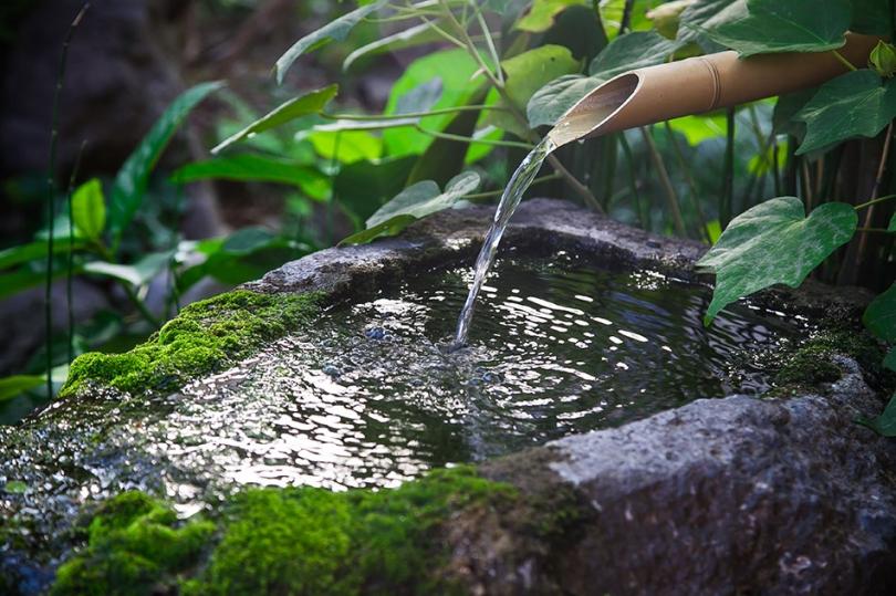 Bambusowa fontanna