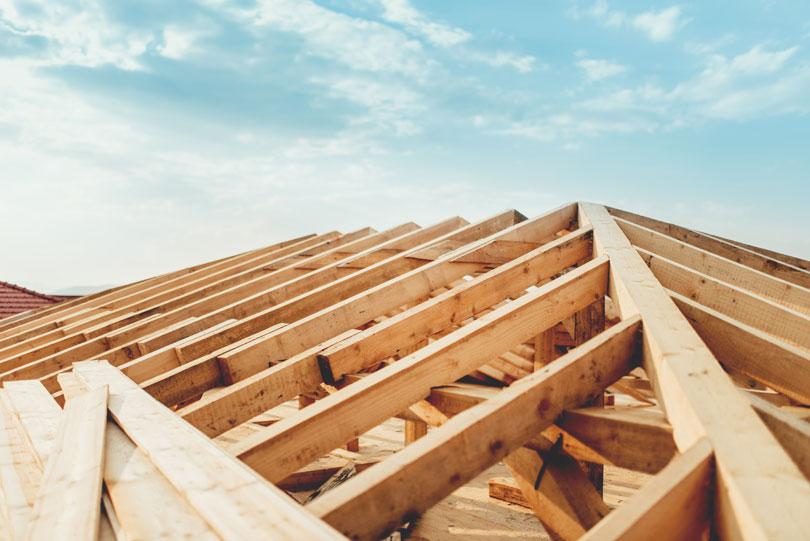 Montaż więźby dachowej