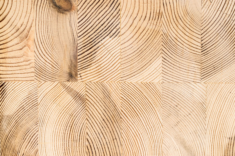 Klejone drewno -przekrój