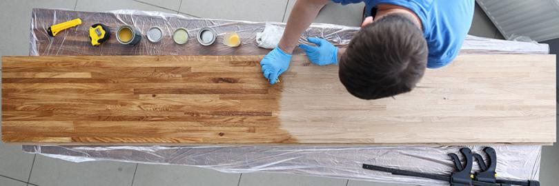 Olejowanie dębowej deski