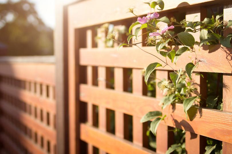 Solidne ogrodzenie zdrewna