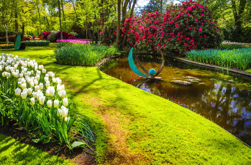 Typowy ogród wstylu holenderskim
