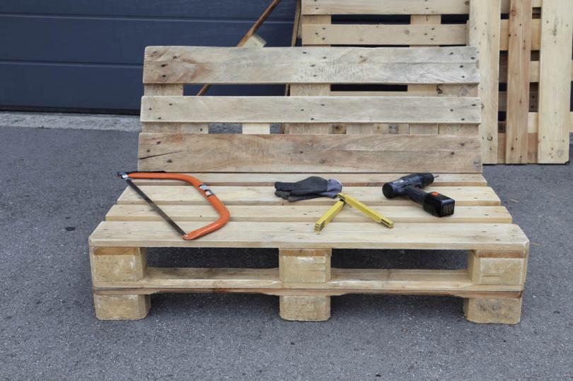 Drewniana ławka zpalet